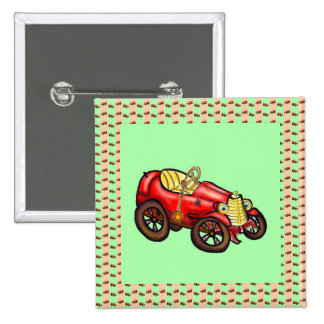 Red old car pin