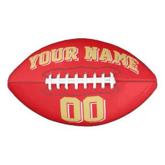 RED OLD GOLD AND WHITE Custom Football