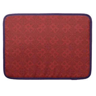 Red Old Tie-up Pattern Laptop Sleeve