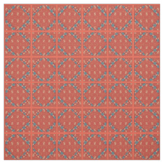 Red Old Time Multi Print Cotton Fabric