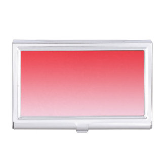 Red Ombre Business Card Case