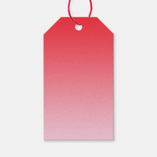 Red Ombre Gift Tags