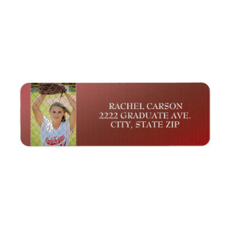 Red Ombre' Graduation Photo Address Labels