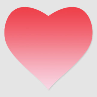 Red Ombre Heart Sticker