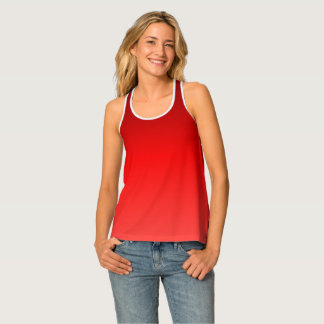 Red Ombre Tank Top