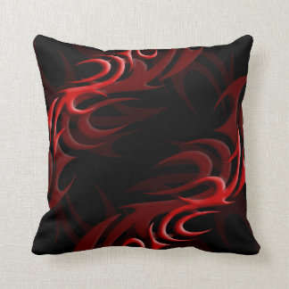 "Red on Black ""Smoke"" Pillow"