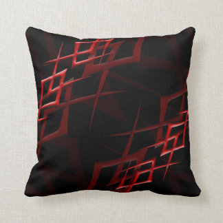 "Red on Black ""Thorn"" Pillow"