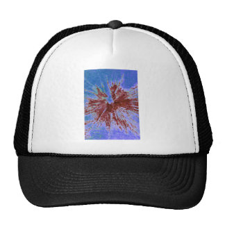 Red on Purple and Blue Paintball Trucker Hat