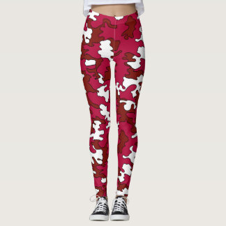 Red on Red Camo Leggings