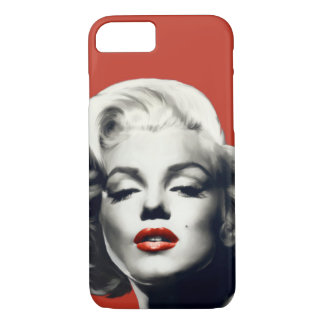 Red on Red Lips Marilyn iPhone 7 Case