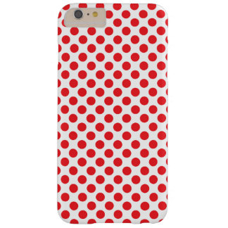 Red on White Polka Dot Barely There iPhone 6 Plus Case