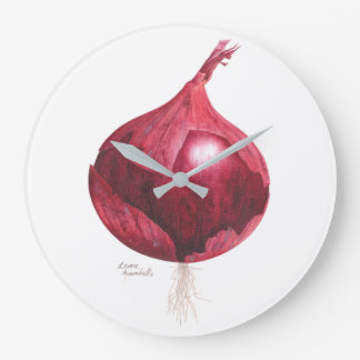 Red Onion Kitchen Clock