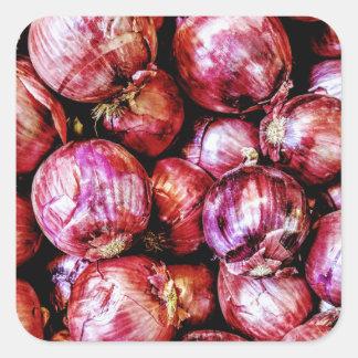 Red Onion Square Sticker