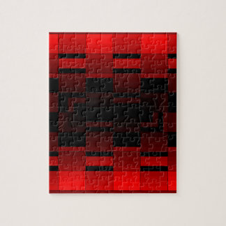 Red Optical Illusion Design CricketDiane Jigsaw Puzzle