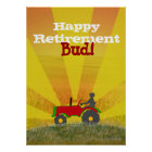 Red or Green Tractor Retirement Poster