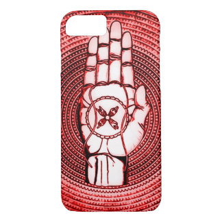 Red Oracle Hand Art iPhone 7 Case