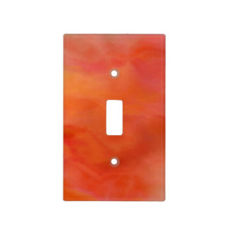 Red/Orange Abstract Watercolor Light Switch Cover