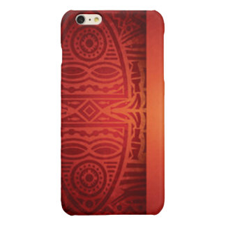 Red & Orange African Pattern Design