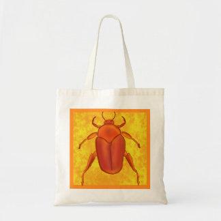 Red-Orange Beetle Tote Bag