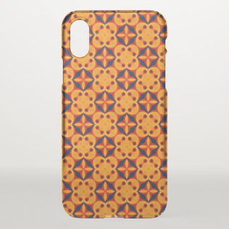 Red, Orange, Blue Geometric Abstract Pattern iPhone X Case