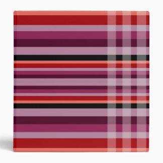 Red - Orange Checks & Stripes Binder