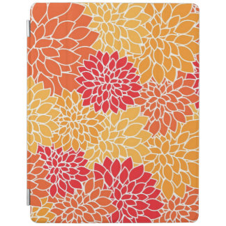 Red/Orange Floral Pattern iPad 2/3/4 Cover iPad Cover