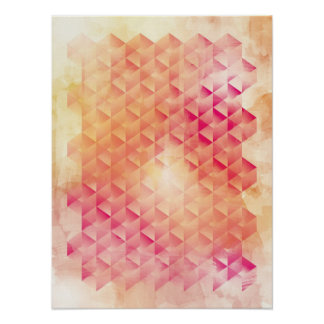 Red & Orange Geometric Poster