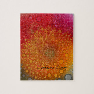 Red Orange Gerbera Daisy Pop Art Jigsaw Puzzle