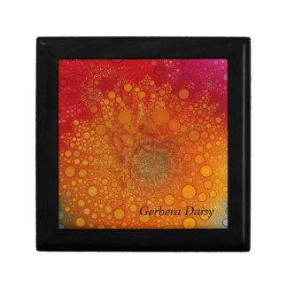 Red Orange Gerbera Daisy Pop Art Keepsake Box