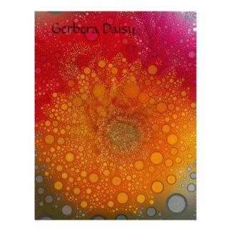 Red Orange Gerbera Daisy Pop Art Letterhead