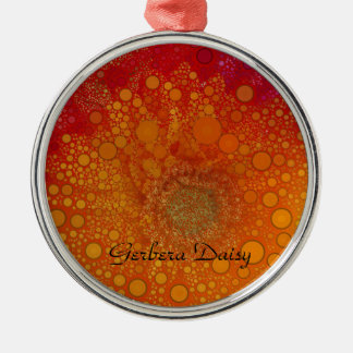 Red Orange Gerbera Daisy Pop Art Metal Ornament