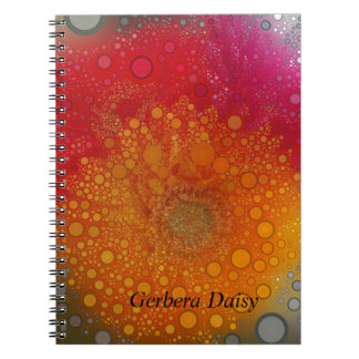 Red Orange Gerbera Daisy Pop Art Notebook