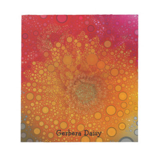 Red Orange Gerbera Daisy Pop Art Notepad