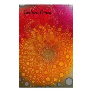 Red Orange Gerbera Daisy Pop Art Stationery