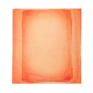 Red Orange Painted Screen Print Artistic Notepad