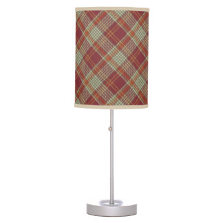Red Orange Plaid Lamp Shade