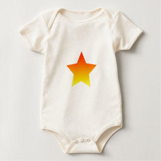 Red/Orange star Baby Bodysuit