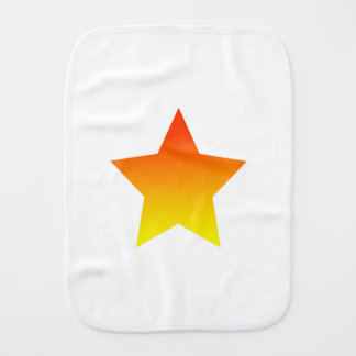 Red/Orange star Burp Cloth