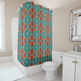 Red Orange Turquoise Teal Eclectic Ethnic Look