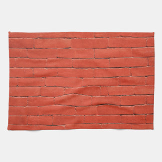 Red Orange Wall Kitchen Towels