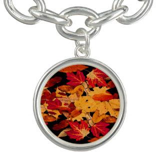 Red Orange Yellow Brown Autumn Leaves Bracelets