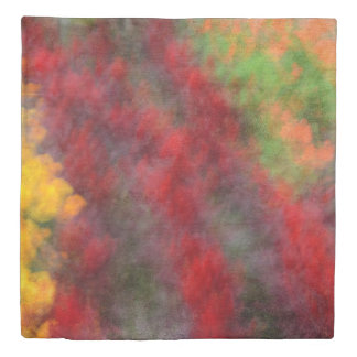 Red Orange Yellow Green Abstract Flowers Photo Art Duvet Cover