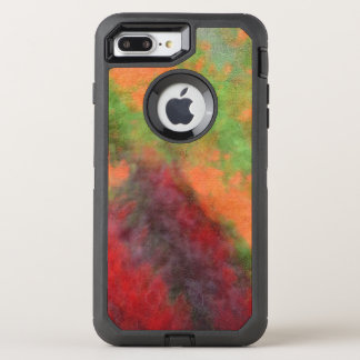 Red Orange Yellow Green Abstract Flowers Photo Art OtterBox Defender iPhone 8 Plus/7 Plus Case