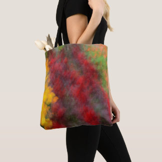 Red Orange Yellow Green Abstract Flowers Photo Art Tote Bag