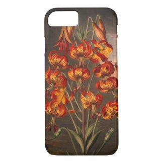 Red orange yellow lily vintage phone case