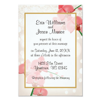 Red Orchids Wedding Invitation