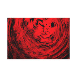 Red Organic Spiral1 - Canvas Print