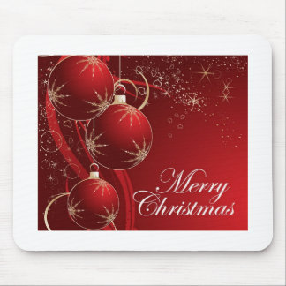 Red Ornament Merry Christmas Mouse Pad