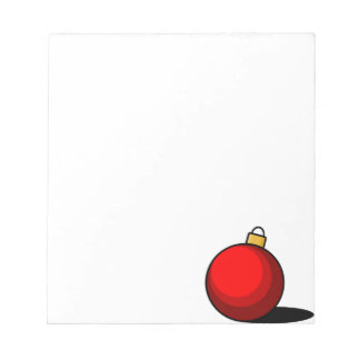 Red Ornament Notepad