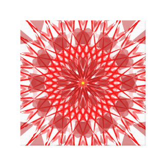 Red Ornamental Canvas Art